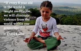 meditating 8yr old